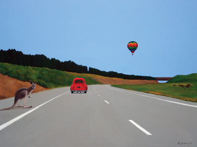 Its Just Around the Corner 2011 Acrylic on Canvas (92cm X 122cm)