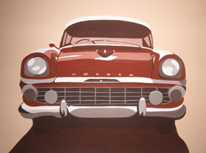 Car Feature Series (No.3) 2005 Acrylic on Canvas 61cm X 46cm