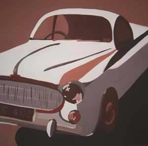 What's Important.. Home and Car Series (1-9) 2004 Acrylic on Canvas 45cmX45cm