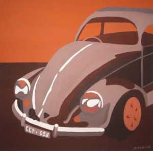 What's Important.. Home and Car Series (1-9) 2004 Acrylic on Canvas 45cmX45cm Despard Gallery Hobart