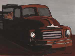 What's Important Series No.1-10 The Truck 2004 Gouache and Ink on Paper 25cmX25cm (Framed)